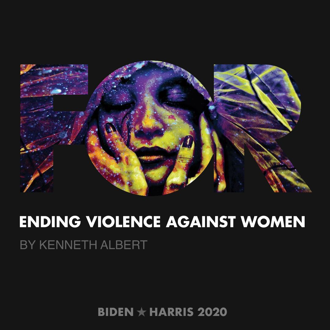CreativesForBiden.org - Ending Violence Against Women artwork by Kenneth Albert