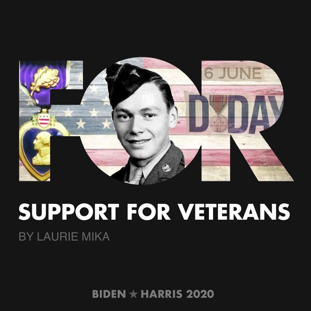 CreativesForBiden.org - Support for Veterans artwork by Laurie Mika