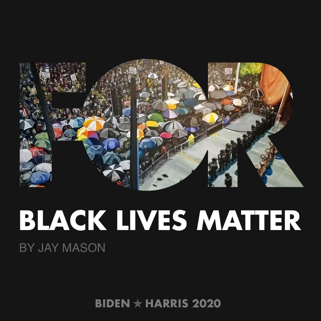 CreativesForBiden.org - Black Lives Matter artwork by Jay Mason