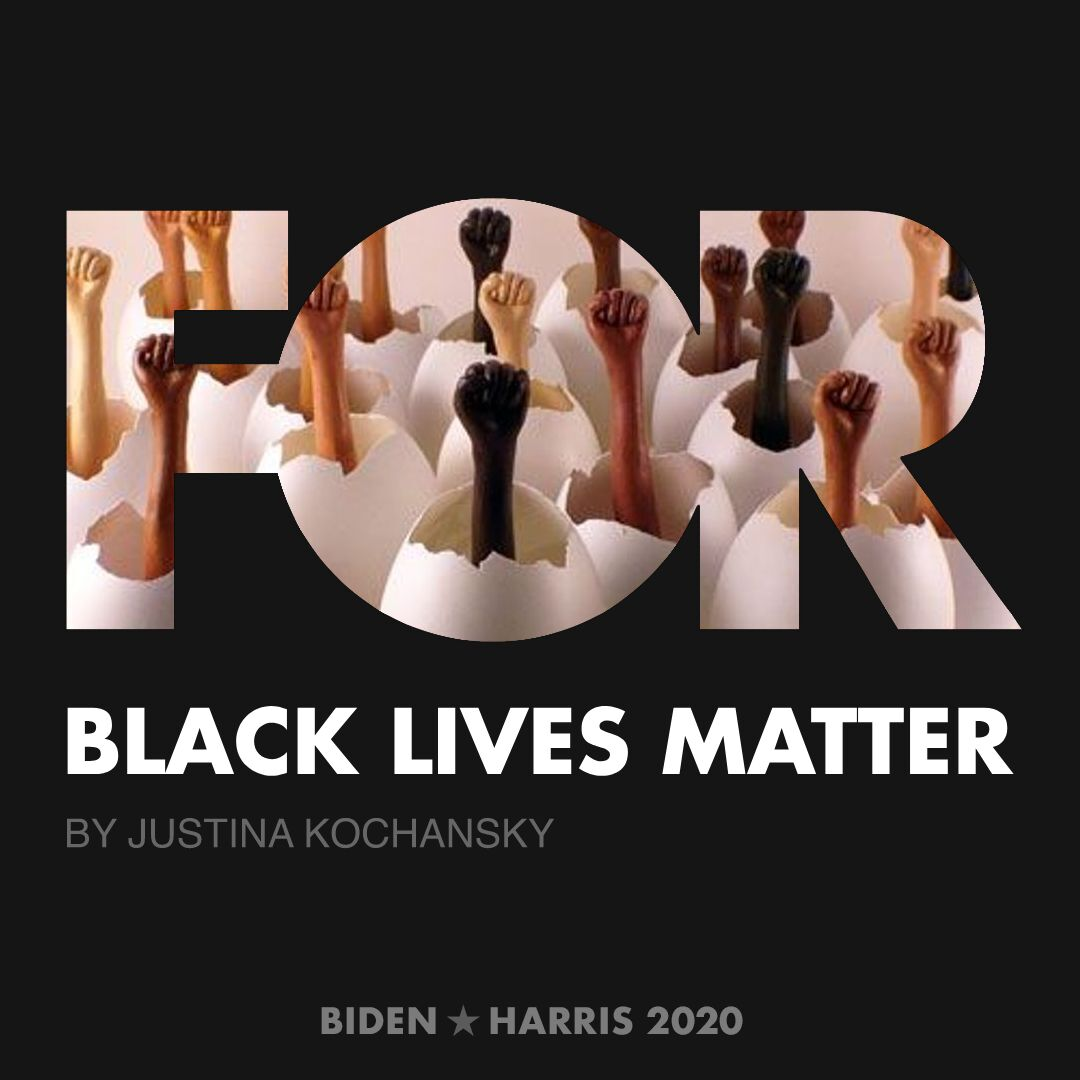 CreativesForBiden.org - Black Lives Matter artwork by Justina Kochansky