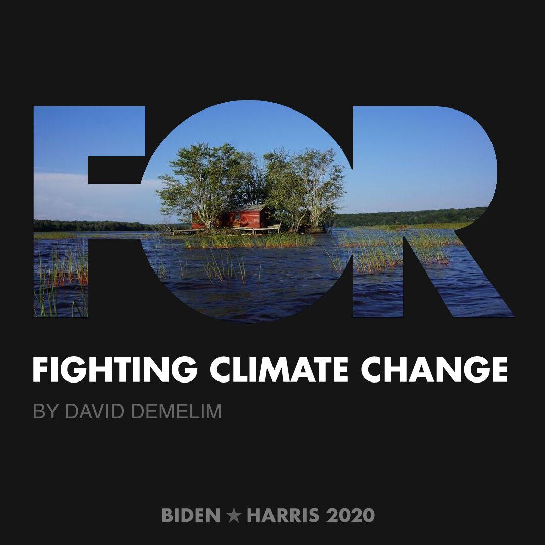 CreativesForBiden.org - Fighting Climate Change artwork by David DeMelim