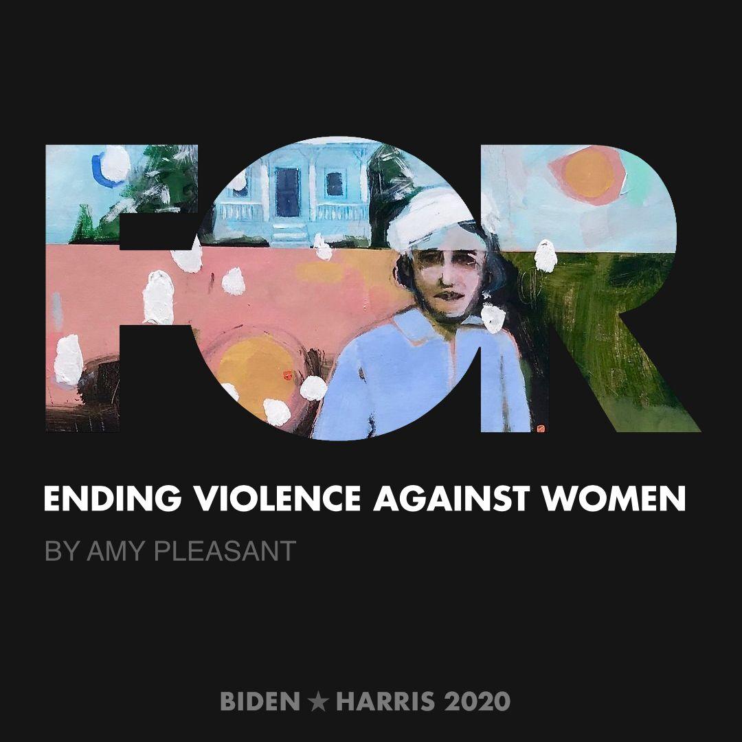 CreativesForBiden.org - Ending Violence Against Women artwork by Amy Pleasant