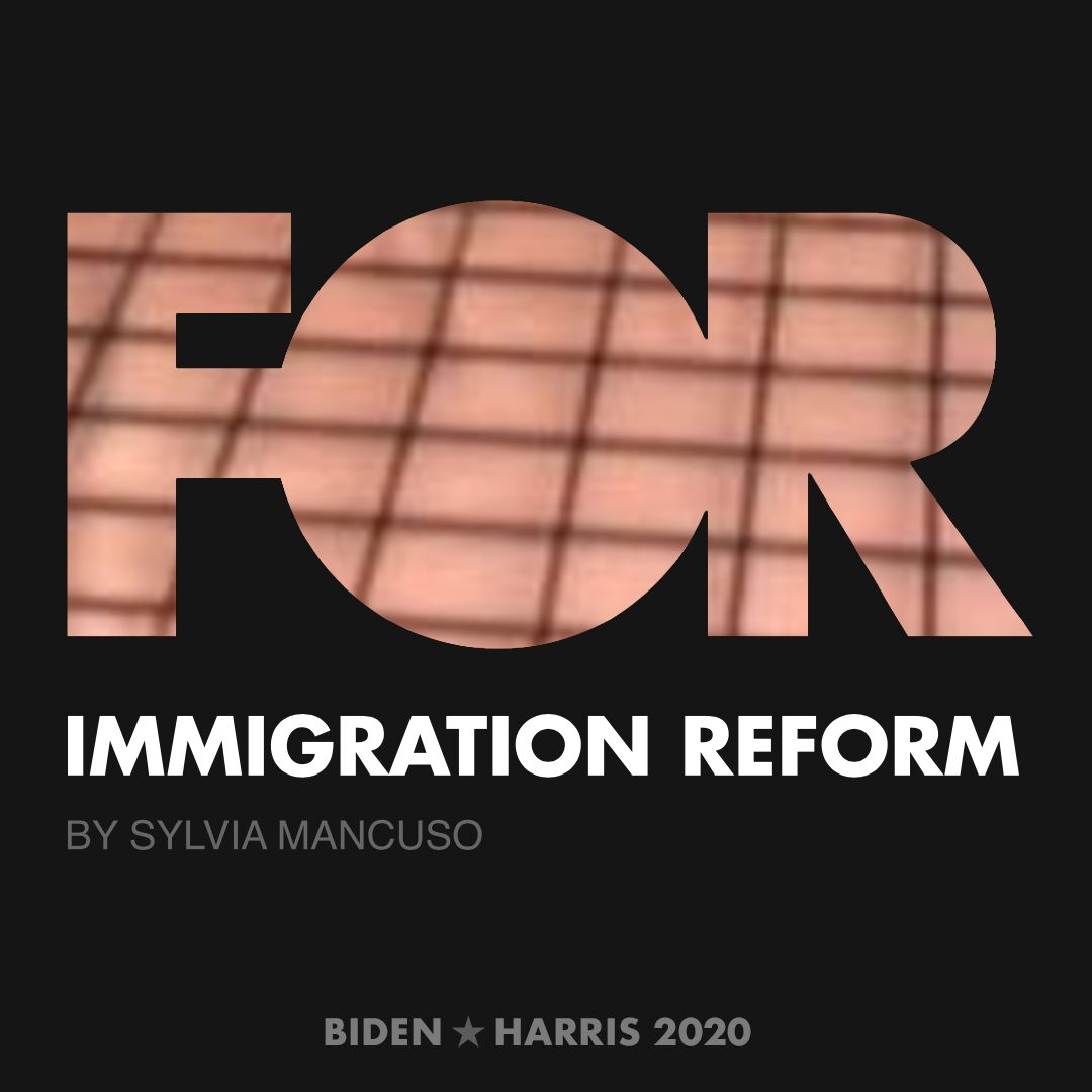 CreativesForBiden.org - Immigration Reform artwork by Sylvia Mancuso