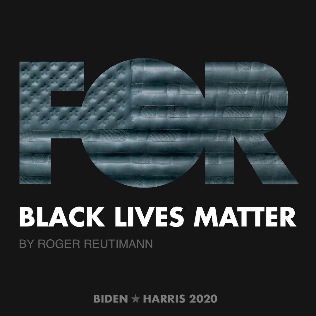CreativesForBiden.org - Black Lives Matter artwork by Roger Reutimann