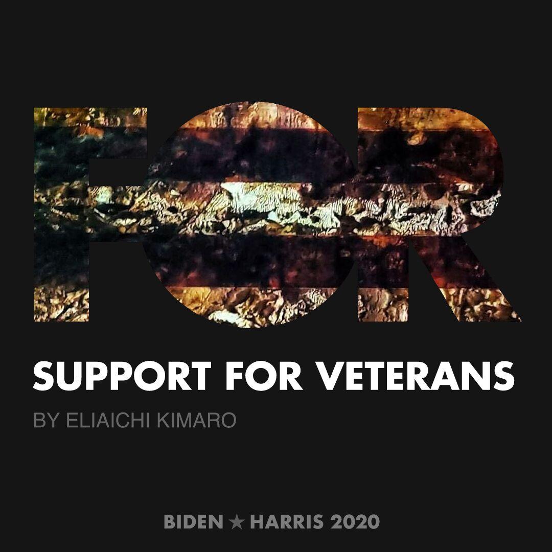 CreativesForBiden.org - Support for Veterans artwork by Eliaichi Kimaro