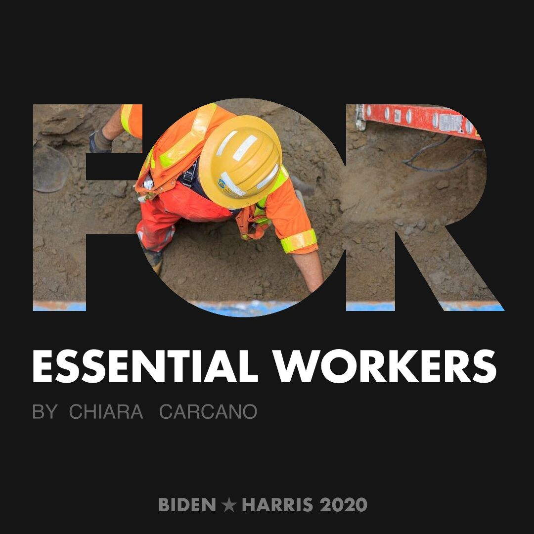 CreativesForBiden.org - Essential Workers artwork by Chiara Carcano