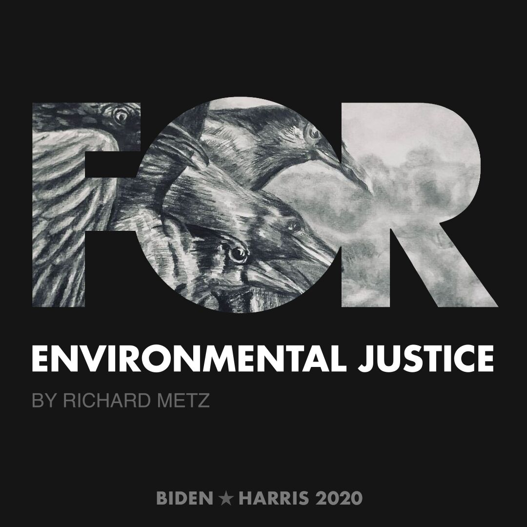 CreativesForBiden.org - Environmental Justice artwork by Richard Metz