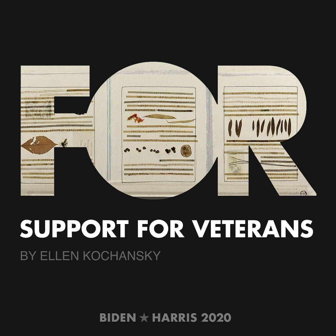 CreativesForBiden.org - Support for Veterans artwork by Ellen Kochansky