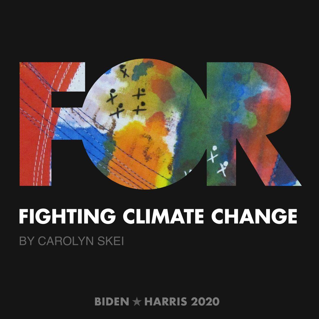 CreativesForBiden.org - Fighting Climate Change artwork by Carolyn Skei