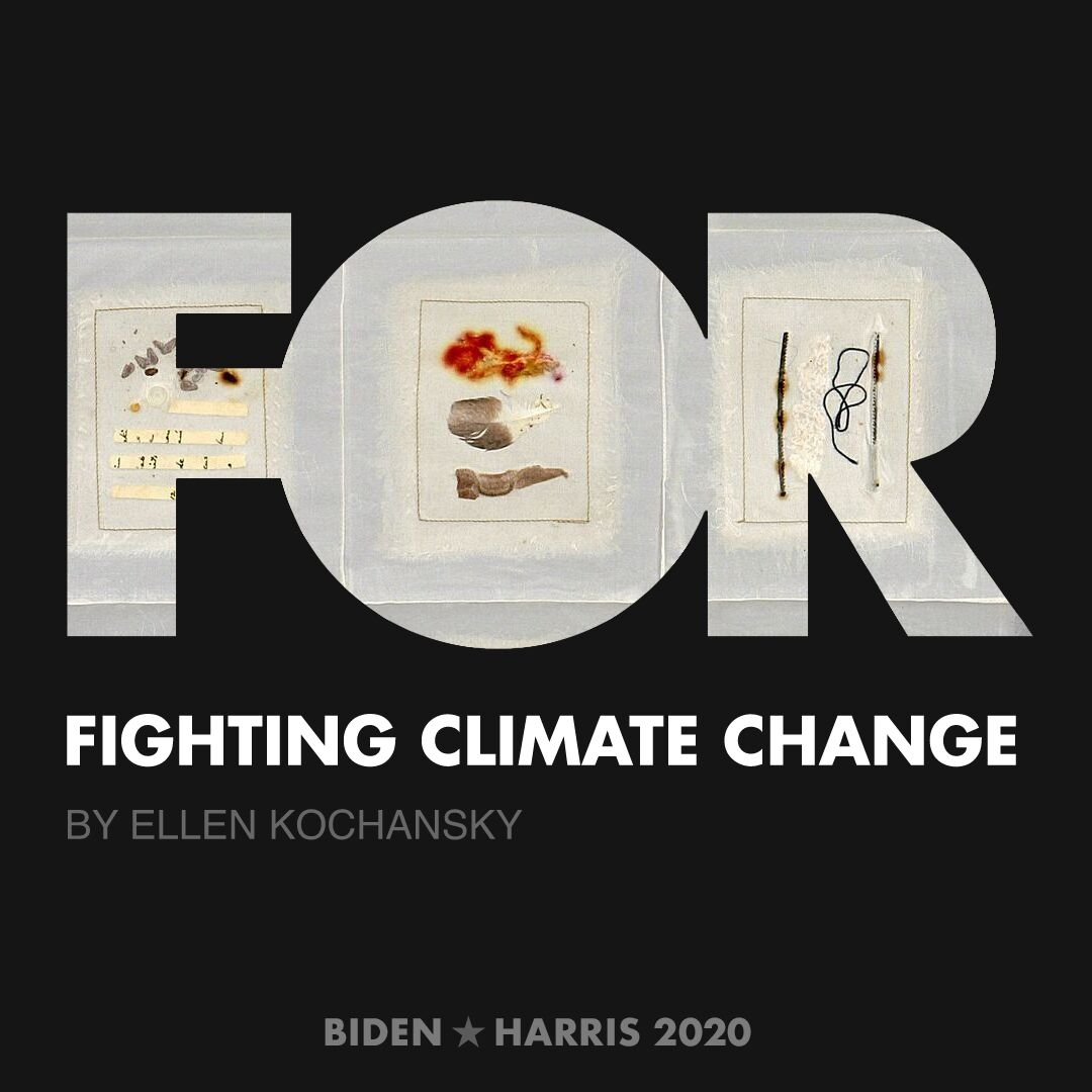 CreativesForBiden.org - Fighting Climate Change artwork by Ellen Kochansky