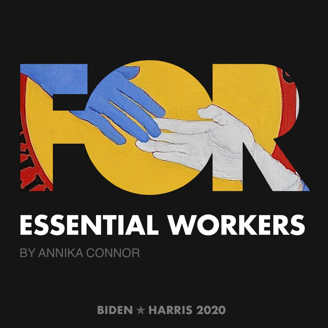 CreativesForBiden.org - Essential Workers artwork by Annika Connor