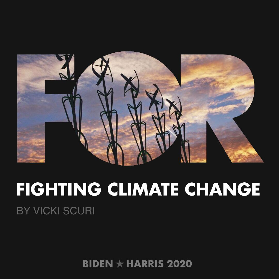 CreativesForBiden.org - Fighting Climate Change artwork by Vicki Scuri