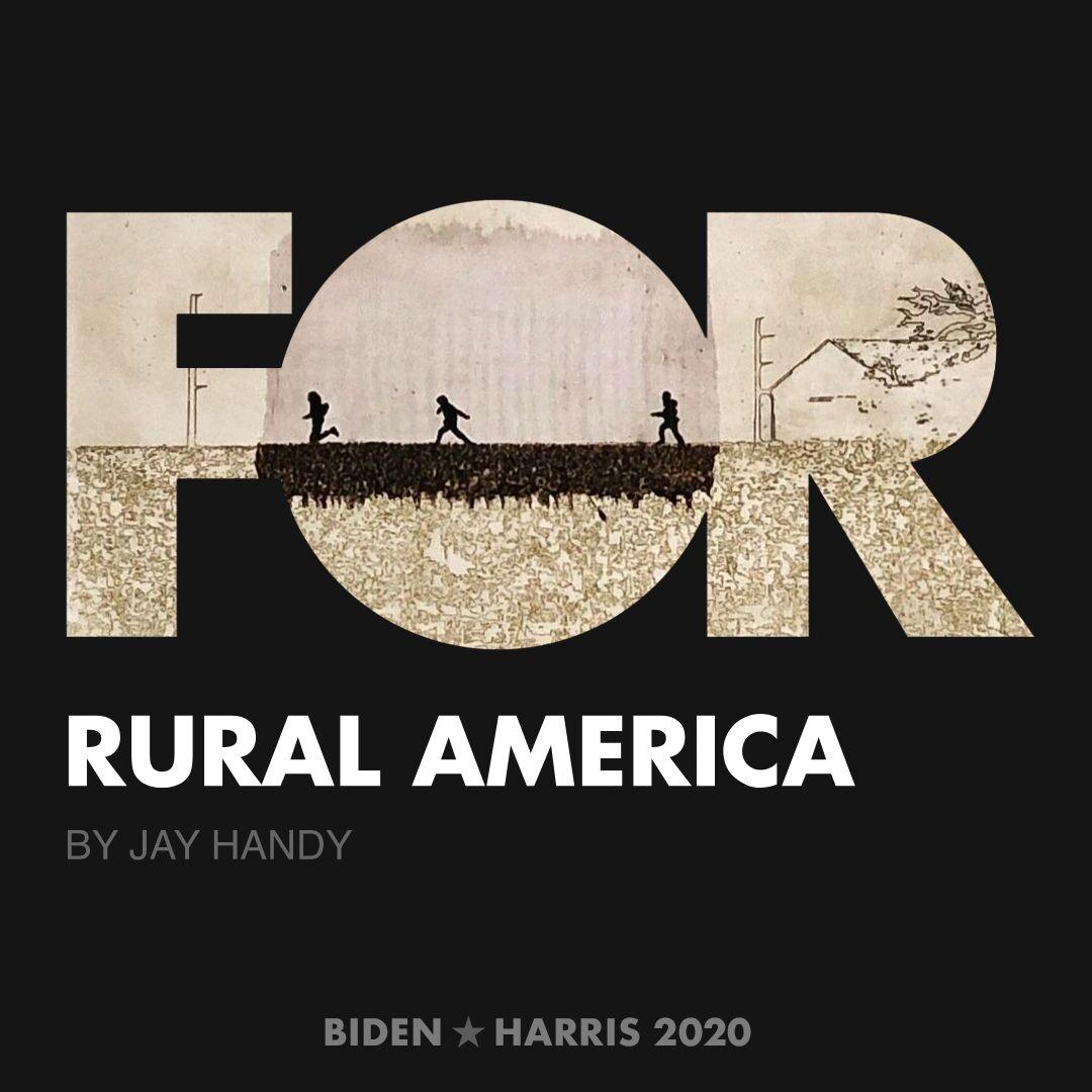 CreativesForBiden.org - Rural America artwork by Jay Handy