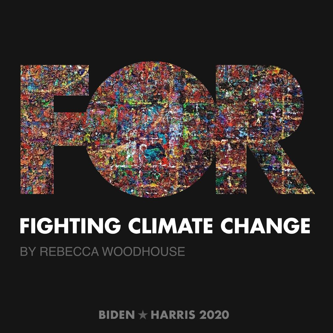 CreativesForBiden.org - Fighting Climate Change artwork by Rebecca Woodhouse