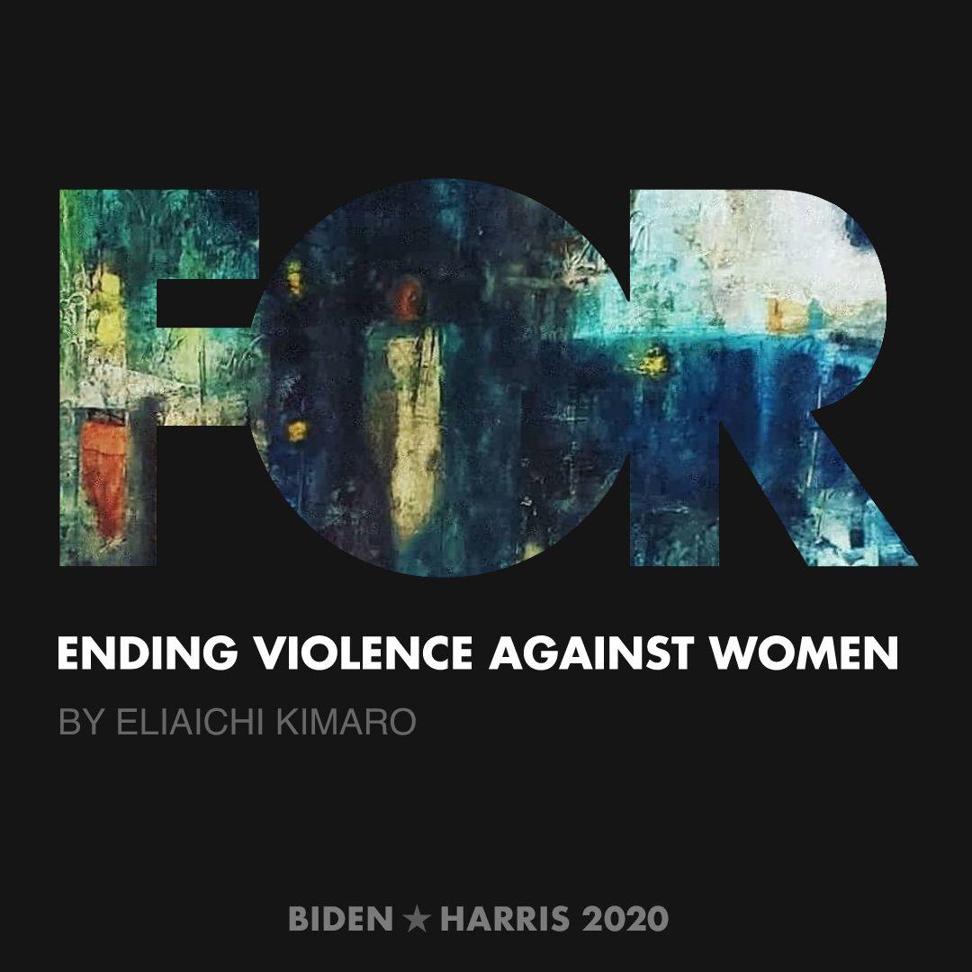 CreativesForBiden.org - Ending Violence Against Women artwork by Eliaichi Kimaro