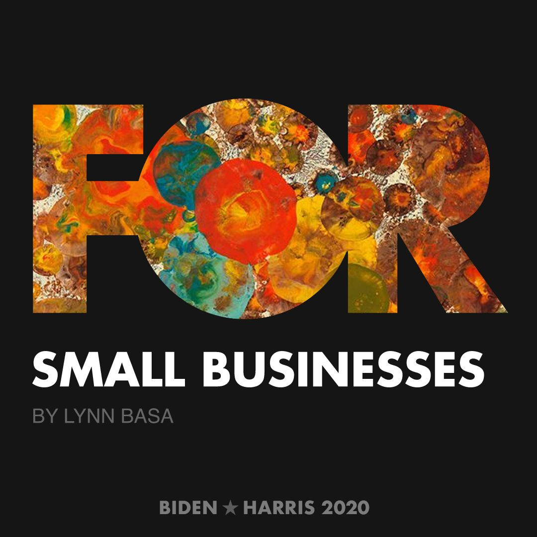 CreativesForBiden.org - Small Businesses artwork by Lynn Basa
