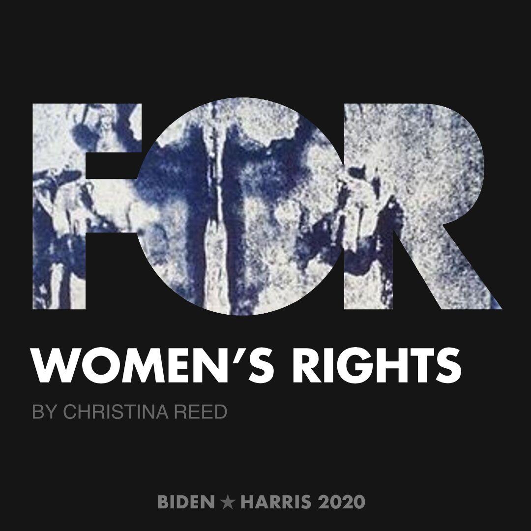 CreativesForBiden.org - Women's Rights artwork by Christina Reed