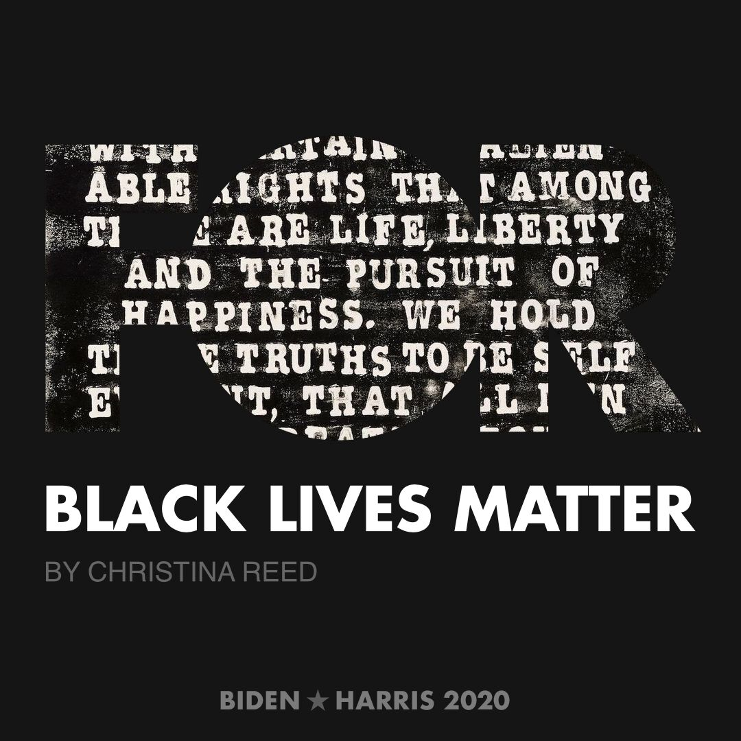 CreativesForBiden.org - Black Lives Matter artwork by Christina Reed