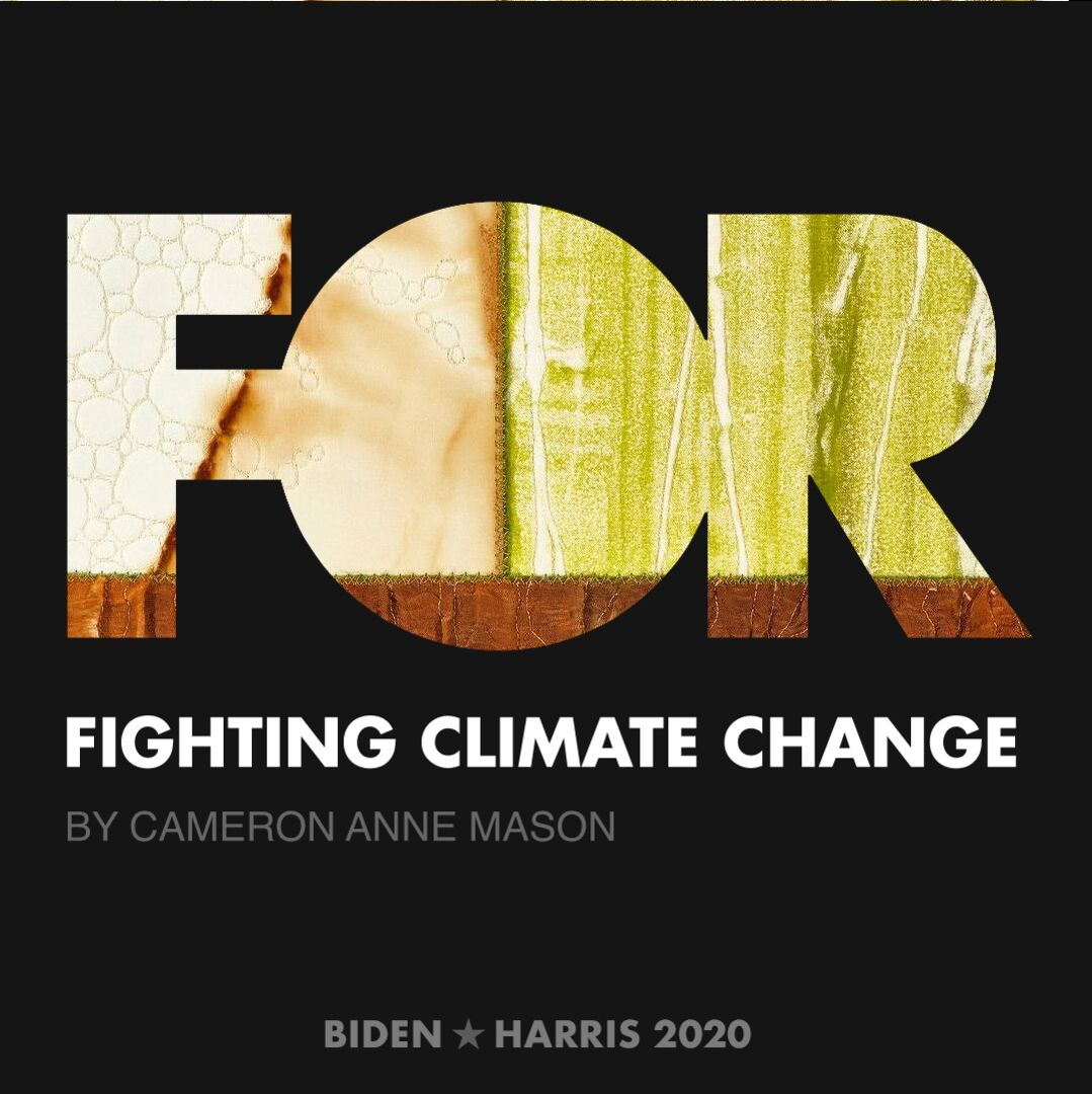 CreativesForBiden.org - Fighting Climate Change artwork by Cameron Anne Mason