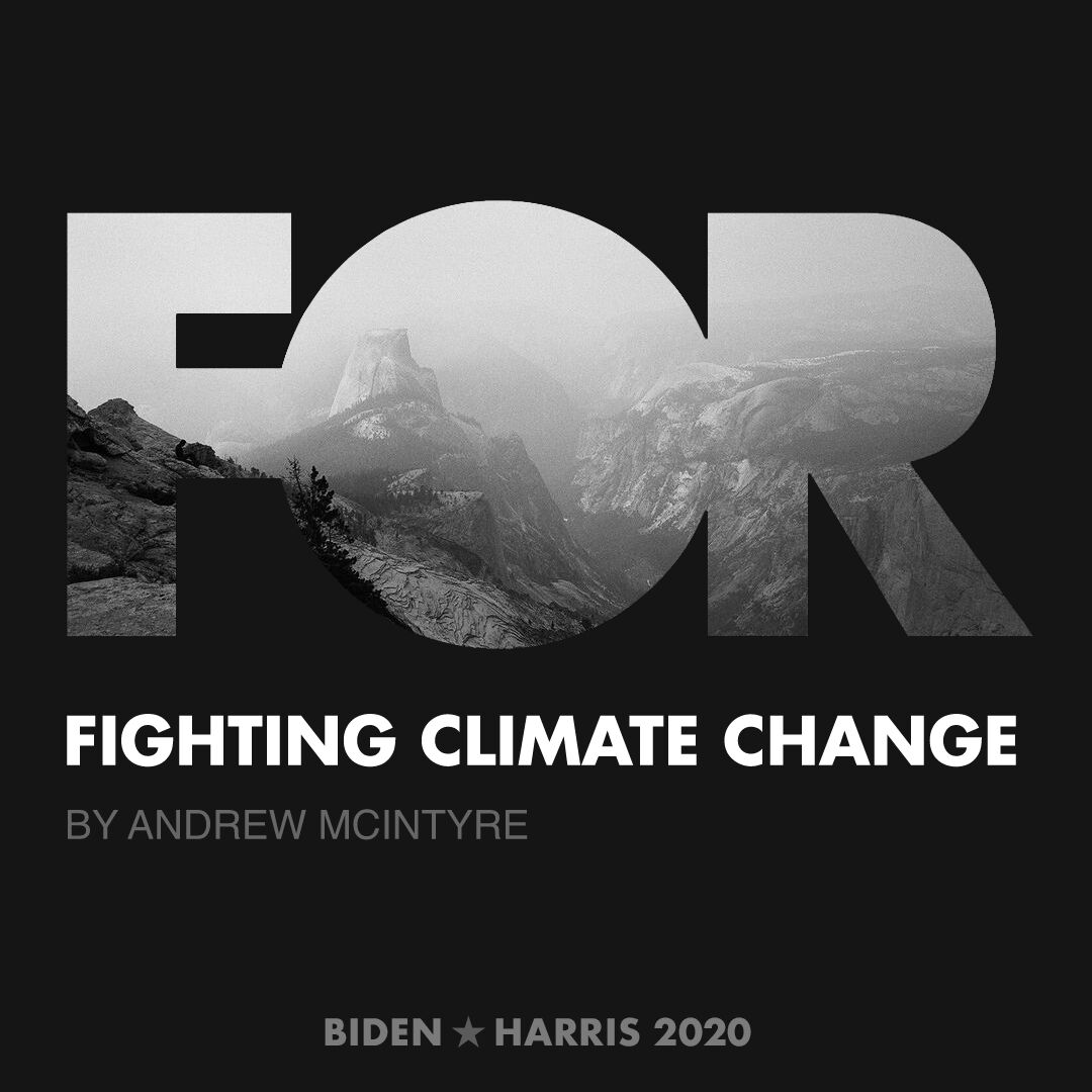 CreativesForBiden.org - Fighting Climate Change artwork by Andrew McIntyre