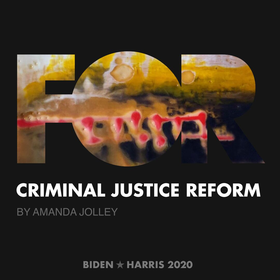 CreativesForBiden.org - Criminal Justice Reform artwork by Amanda Jolley