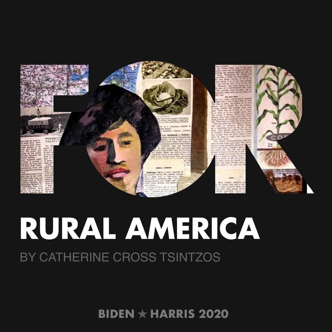CreativesForBiden.org - Rural America artwork by Catherine Cross Tsintzos
