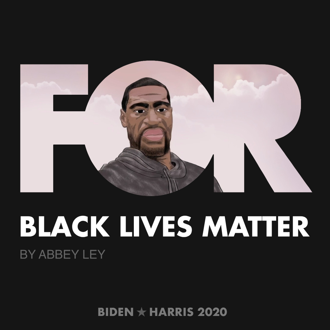 CreativesForBiden.org - Black Lives Matter artwork by Abbey Ley