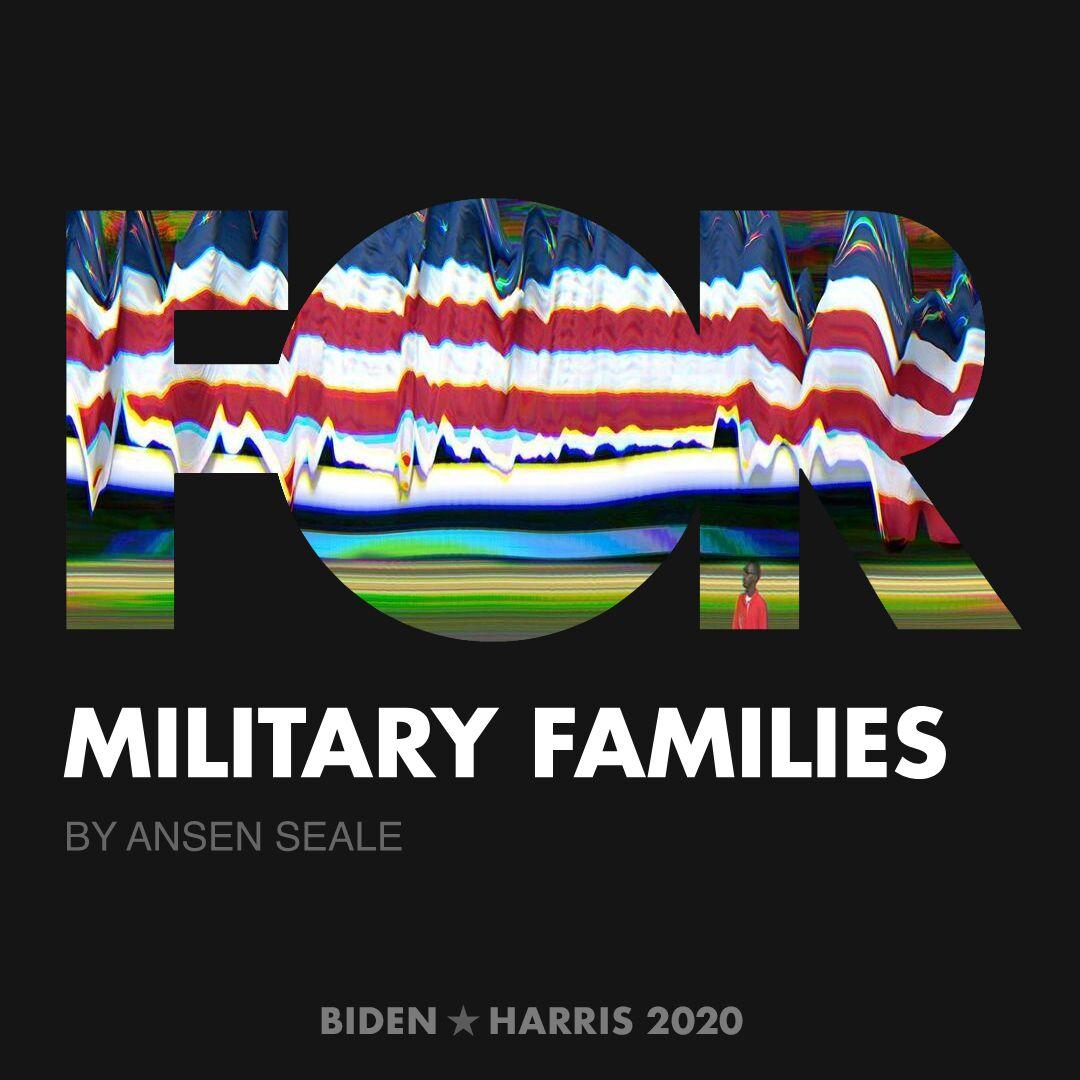 CreativesForBiden.org - Military Families artwork by Ansen Seale