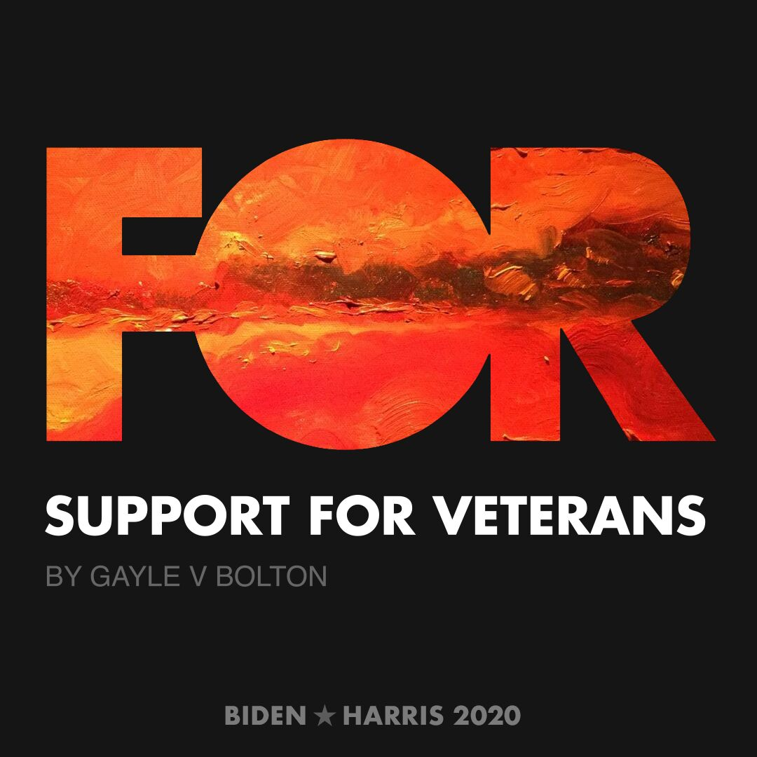 CreativesForBiden.org - Support for Veterans artwork by Gayle V Bolton