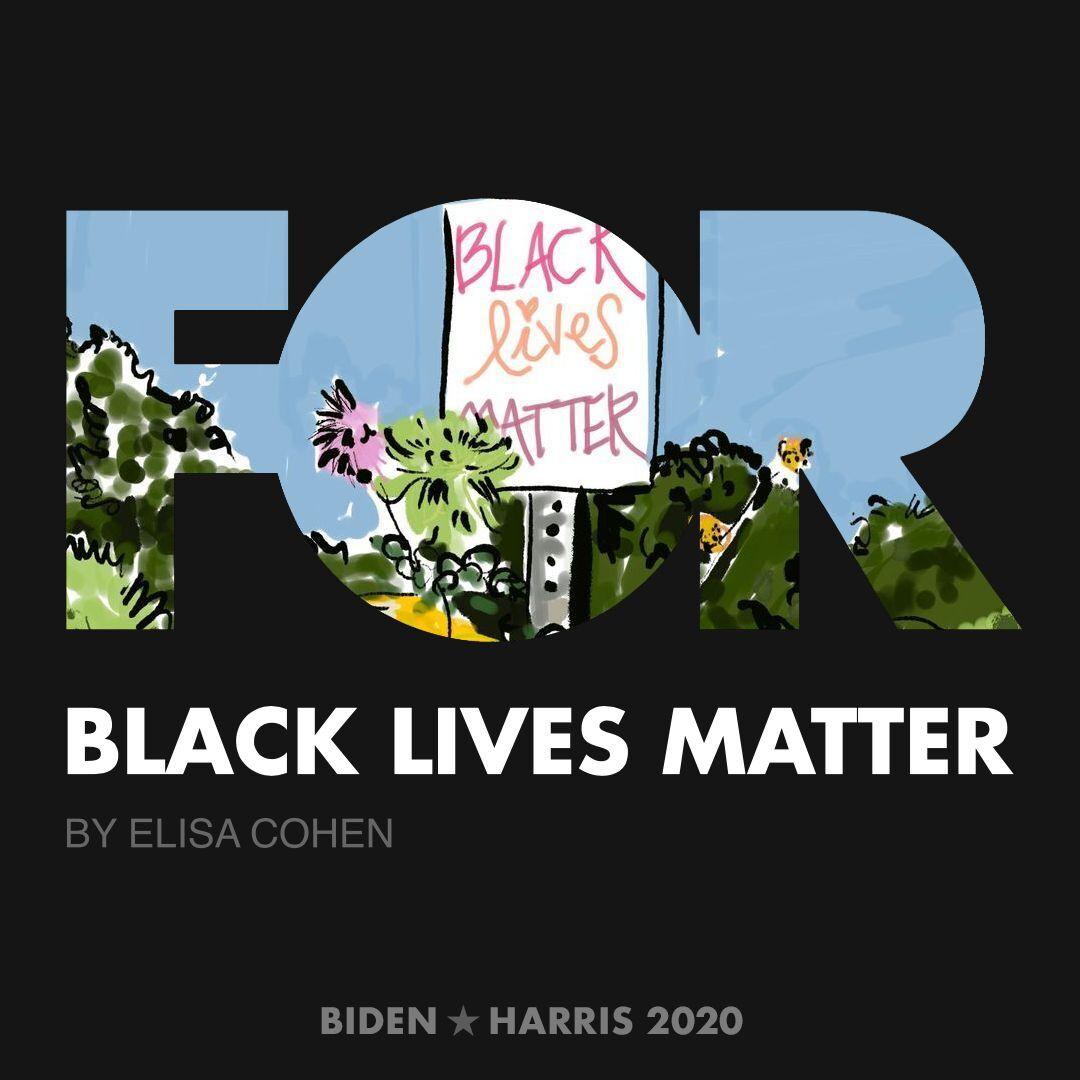 CreativesForBiden.org - Black Lives Matter artwork by Elisa Cohen