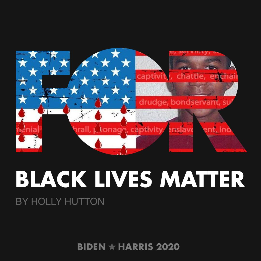CreativesForBiden.org - Black Lives Matter artwork by Holly Hutton