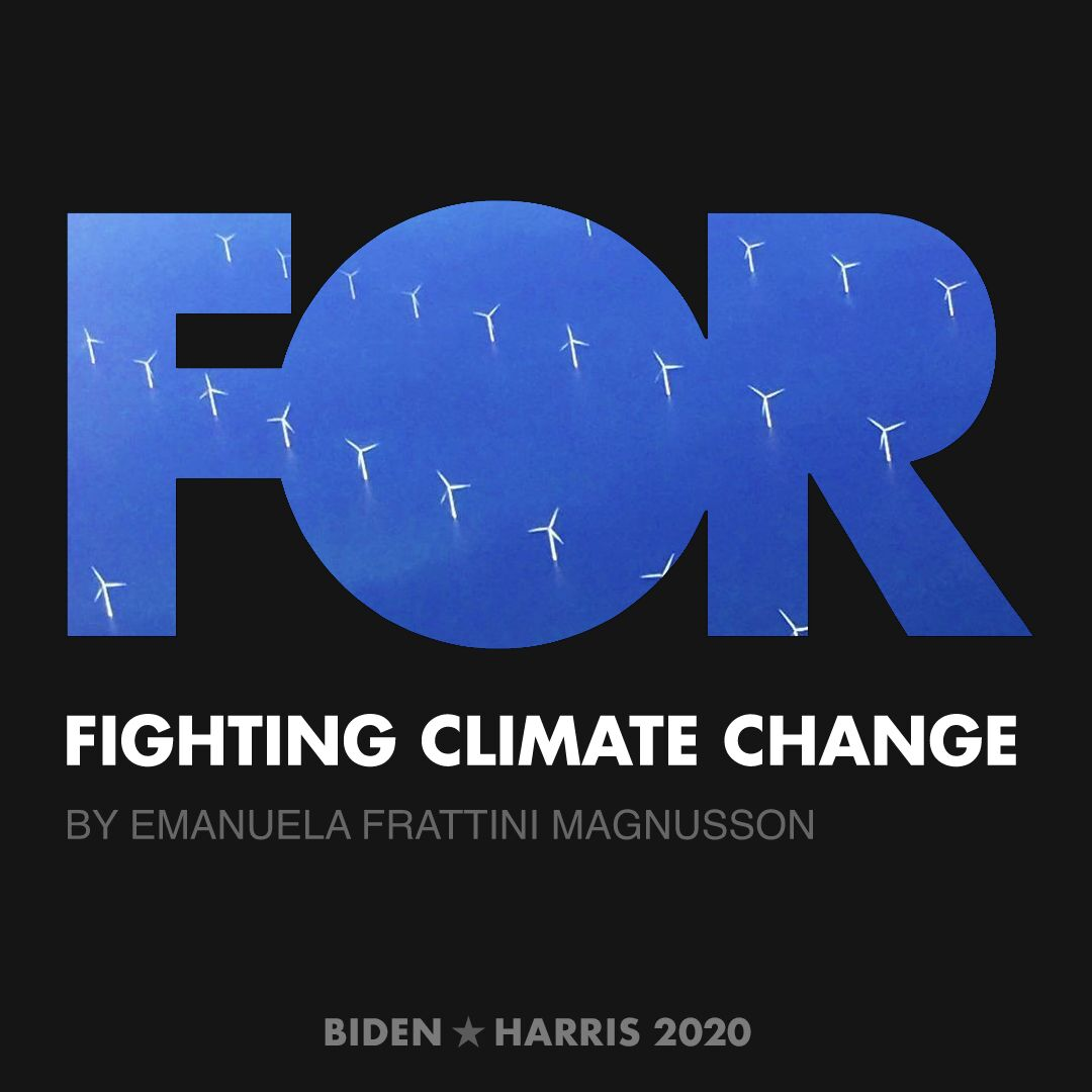 CreativesForBiden.org - Fighting Climate Change artwork by Emanuela Frattini Magnusson