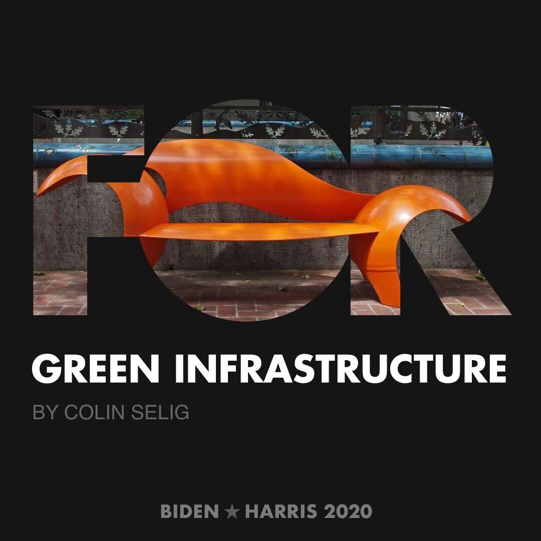CreativesForBiden.org - Green Infrastructure artwork by Colin Selig