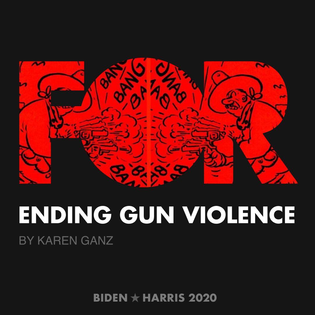 CreativesForBiden.org - Ending Gun Violence artwork by Karen Ganz