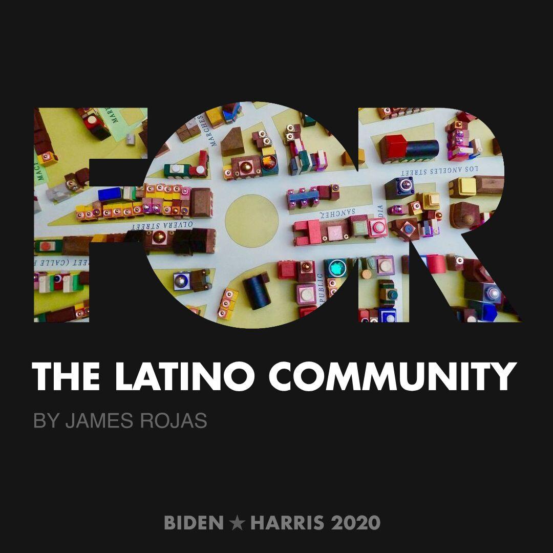 CreativesForBiden.org - The Latino Community artwork by James Rojas