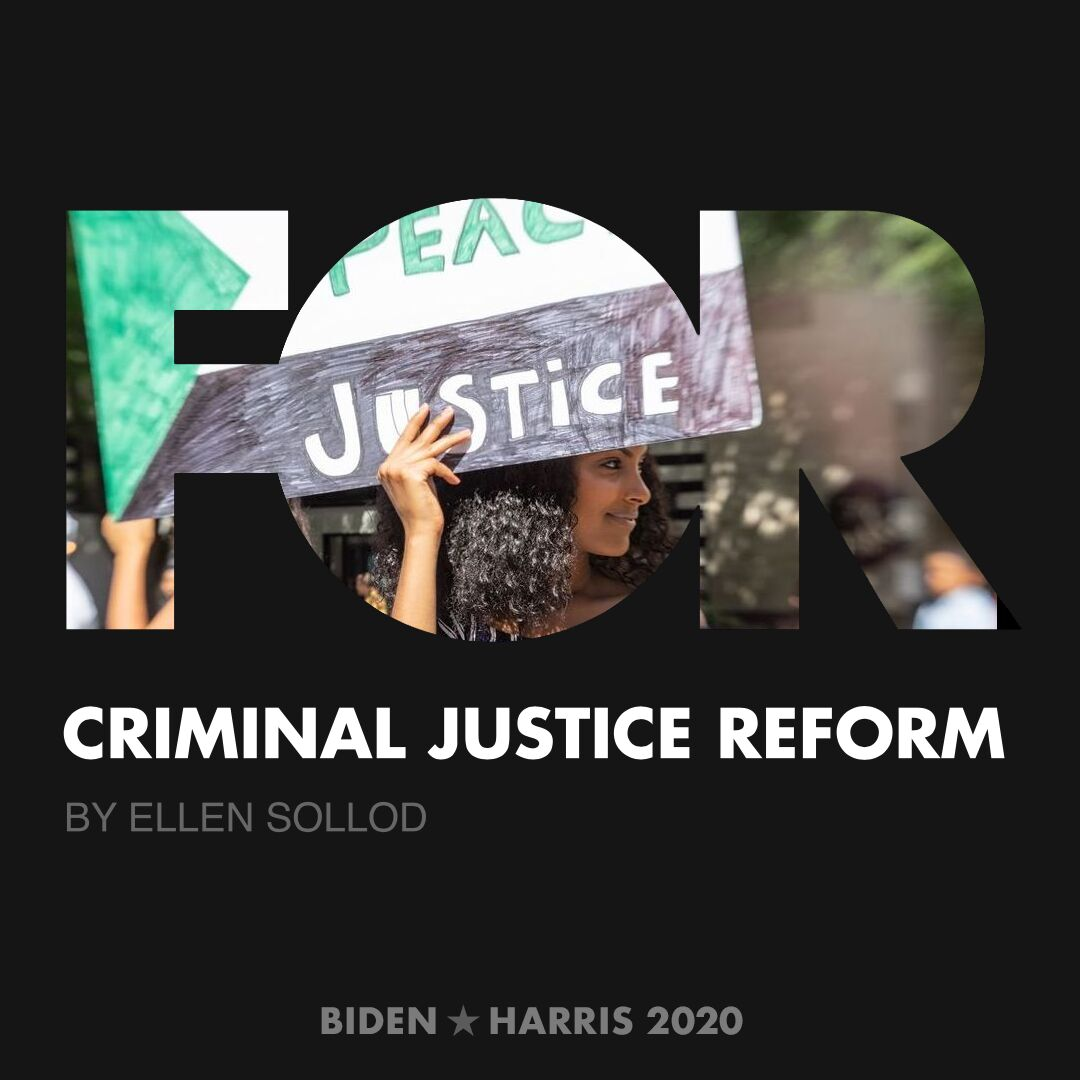 CreativesForBiden.org - Criminal Justice Reform artwork by Ellen Sollod