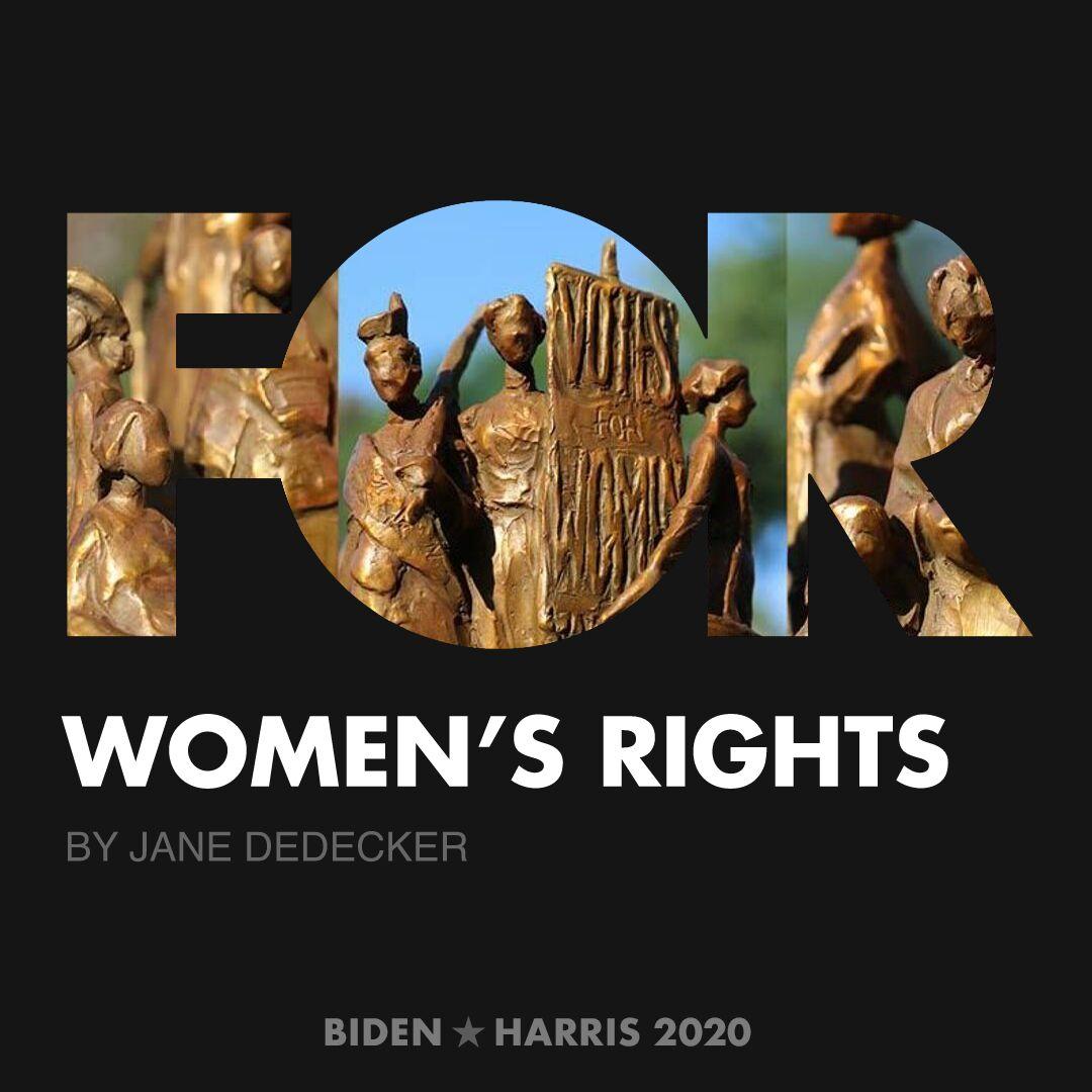 CreativesForBiden.org - Women's Rights artwork by Jane DeDecker