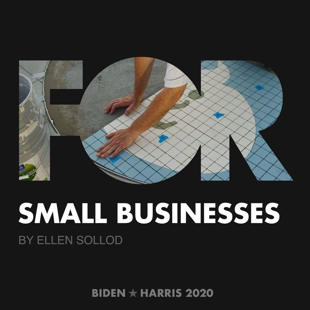 CreativesForBiden.org - Small Businesses artwork by Ellen Sollod