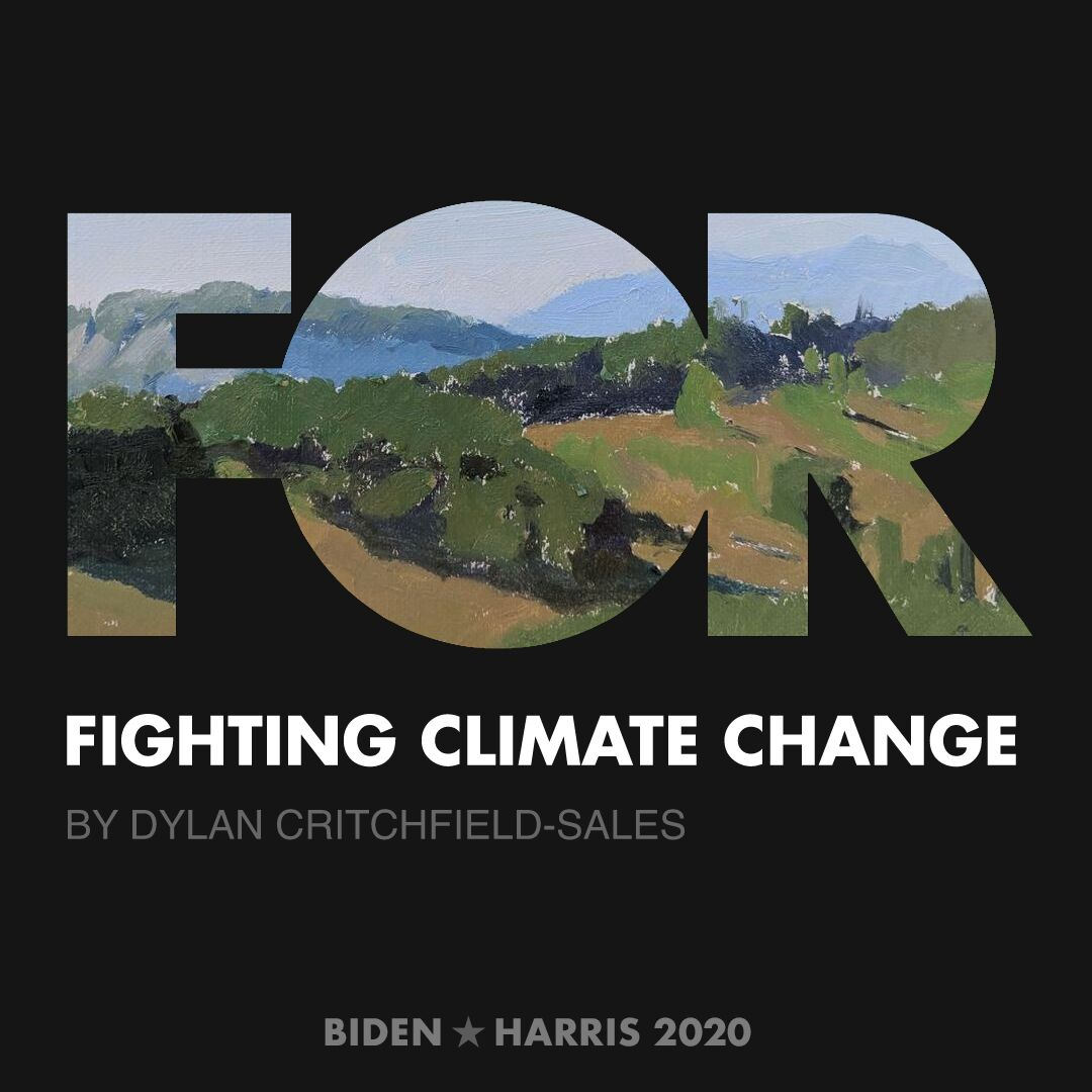 CreativesForBiden.org - Fighting Climate Change artwork by Dylan Critchfield-Sales