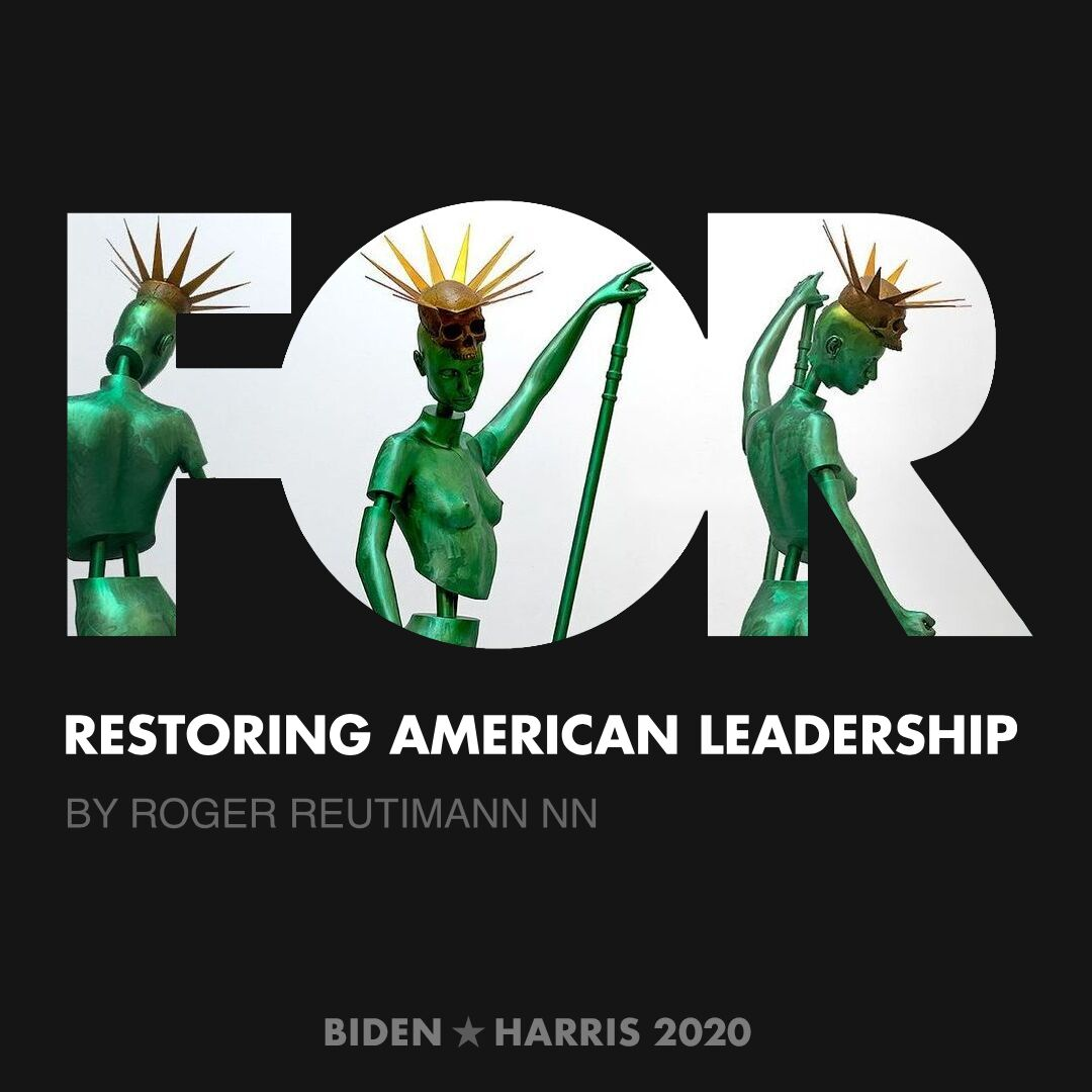 CreativesForBiden.org - Restoring American Leadership artwork by Roger Reutimann nn
