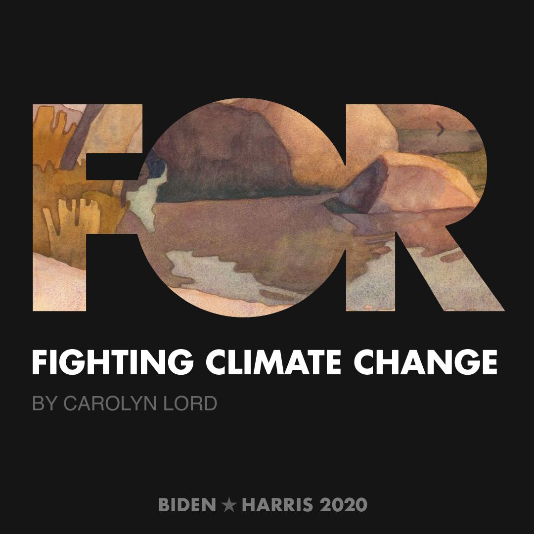 CreativesForBiden.org - Fighting Climate Change artwork by Carolyn Lord