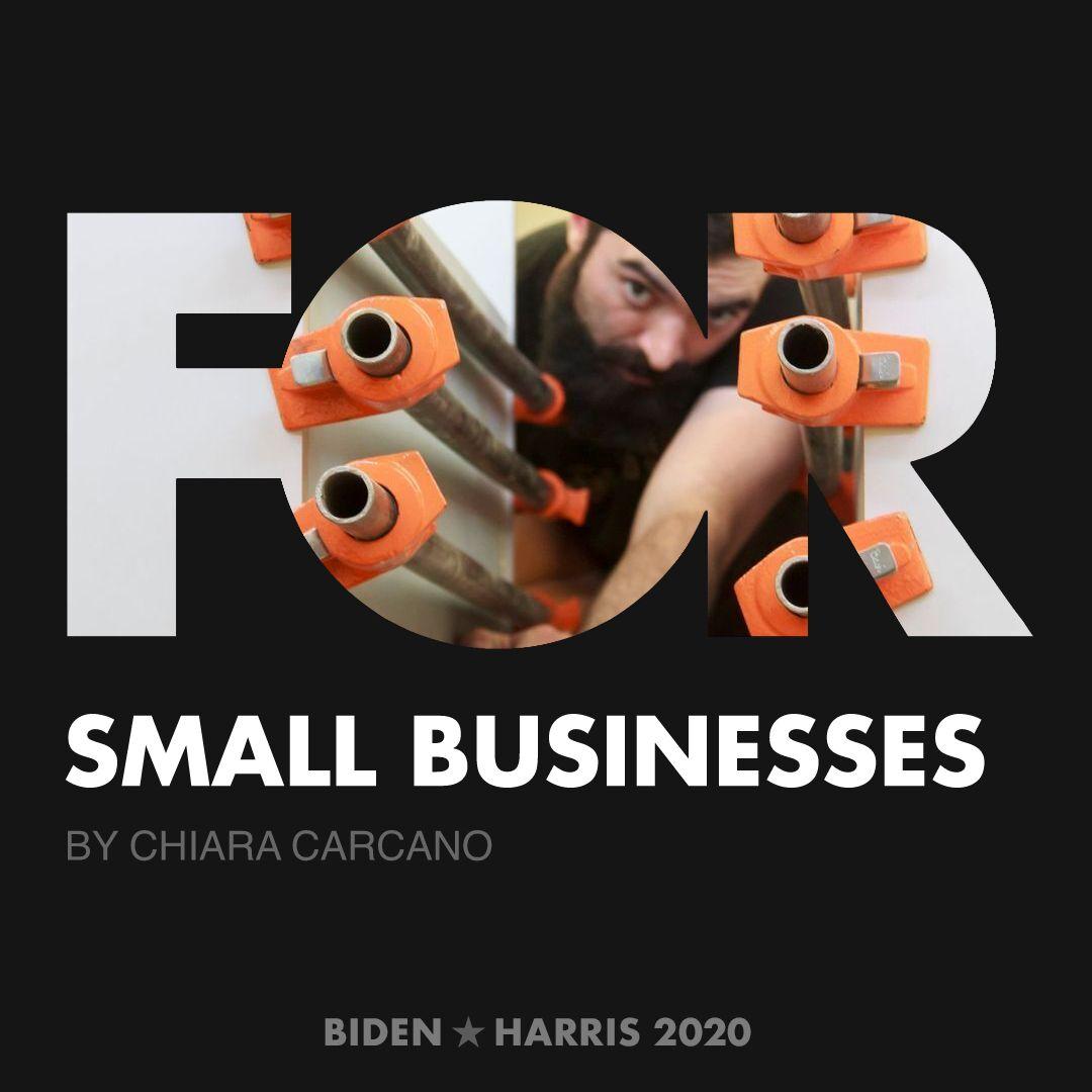 CreativesForBiden.org - Small Businesses artwork by Chiara Carcano