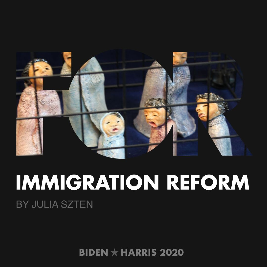 CreativesForBiden.org - Immigration Reform artwork by Julia Szten