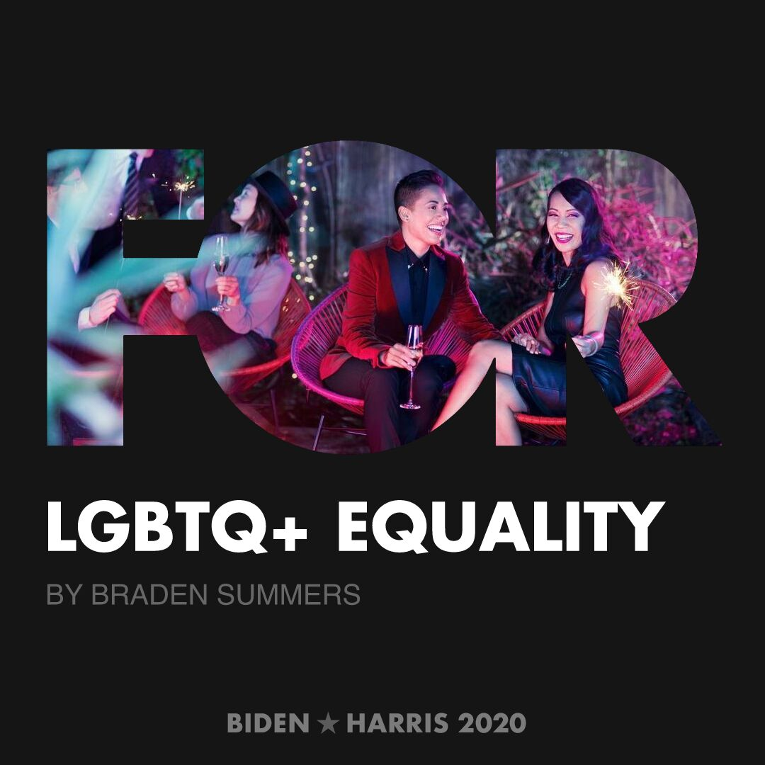 CreativesForBiden.org - LGBTQ+ Equality artwork by Braden Summers