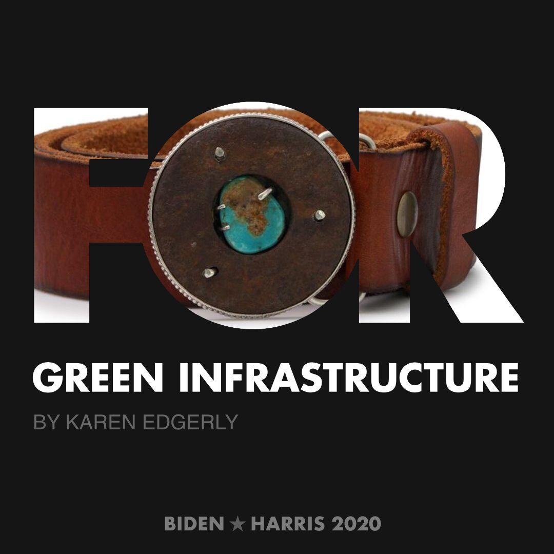 CreativesForBiden.org - Green Infrastructure artwork by Karen Edgerly