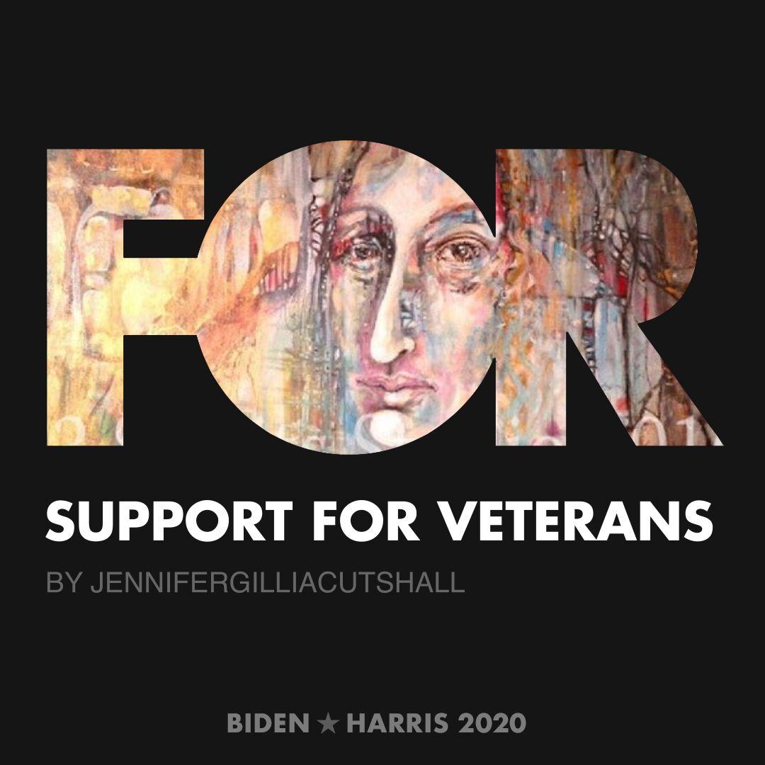 CreativesForBiden.org - Support for Veterans artwork by JenniferGilliaCutshall
