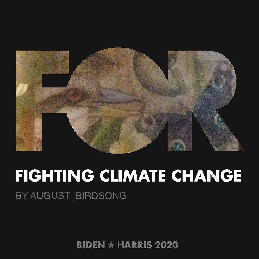 CreativesForBiden.org - Fighting Climate Change artwork by August_Birdsong