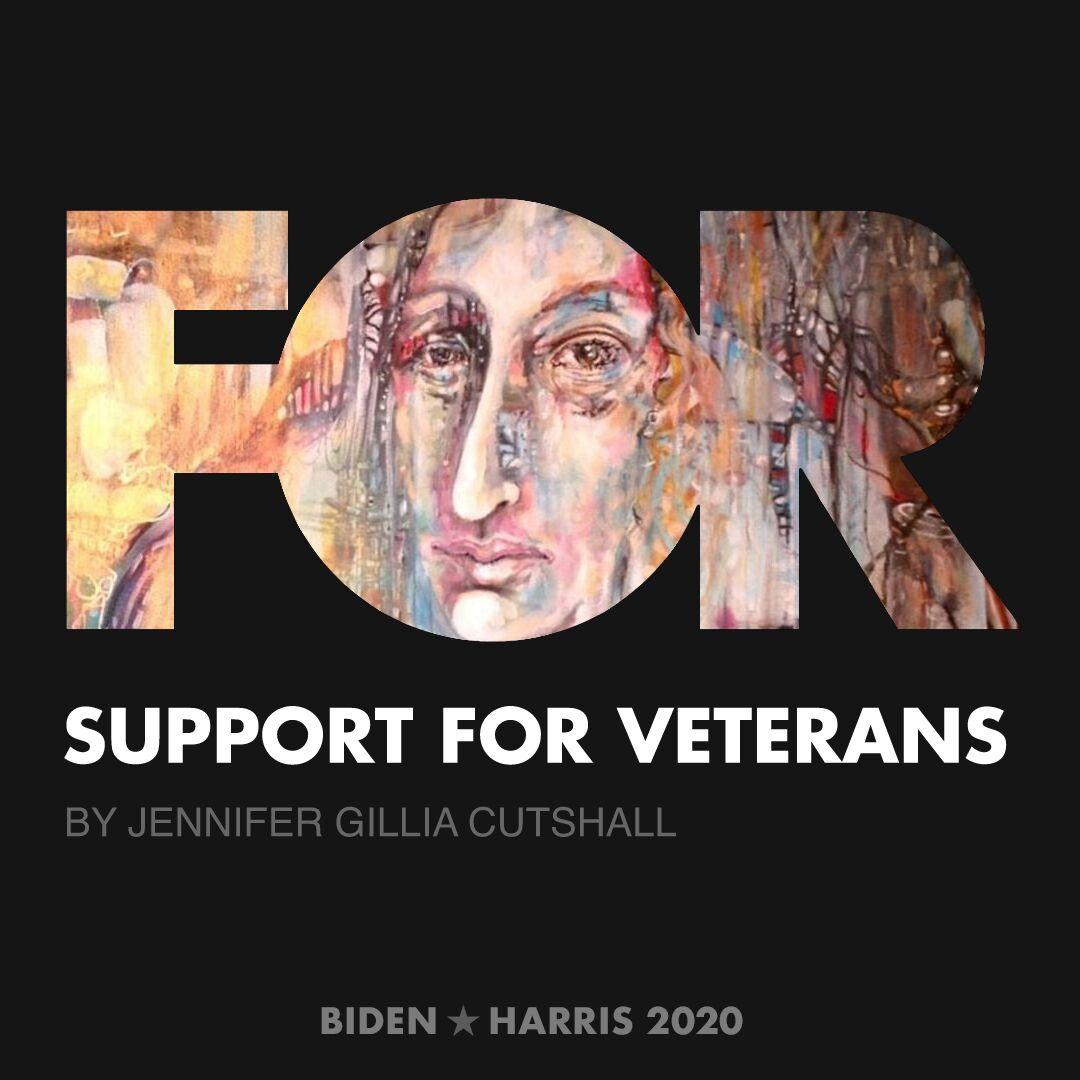 CreativesForBiden.org - Support for Veterans artwork by Jennifer Gillia Cutshall