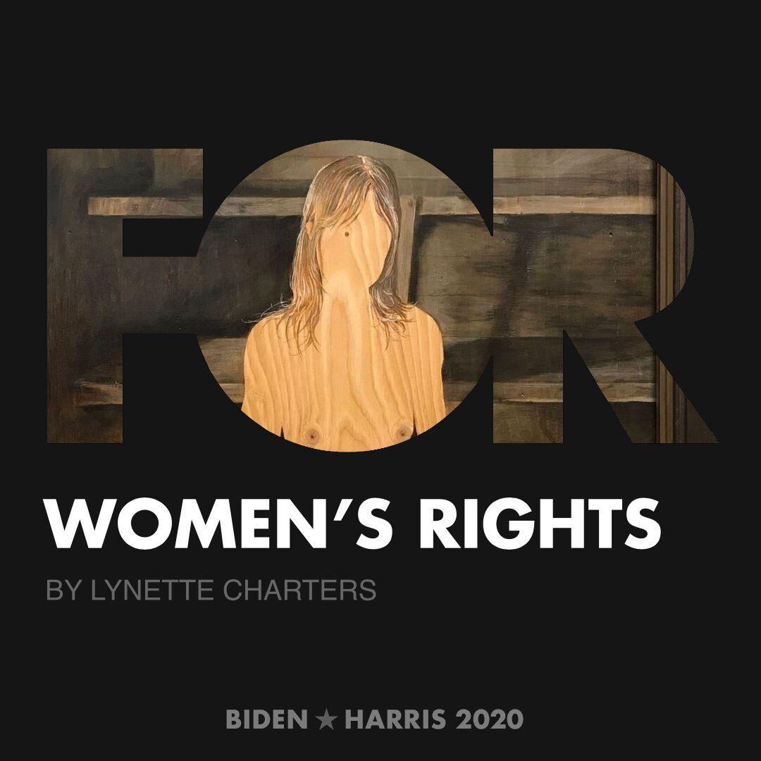 CreativesForBiden.org - Women's Rights artwork by Lynette Charters
