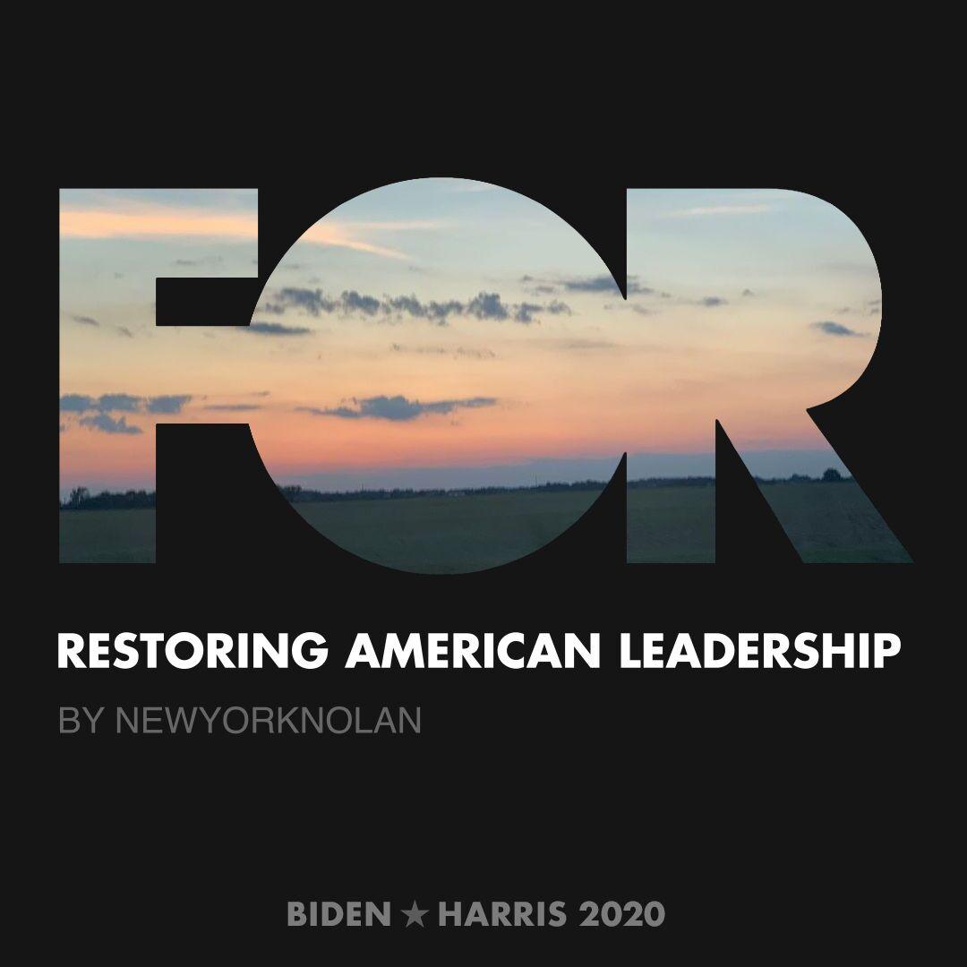 CreativesForBiden.org - Restoring American Leadership artwork by newyorknolan